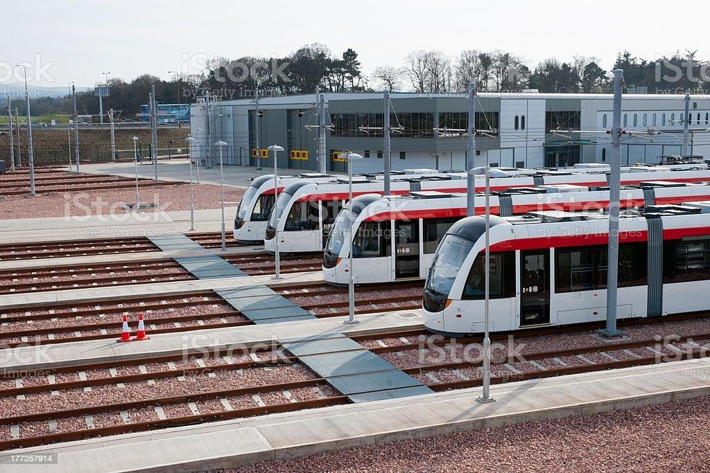 Gogar Tram Depot, Edinburgh stock photo