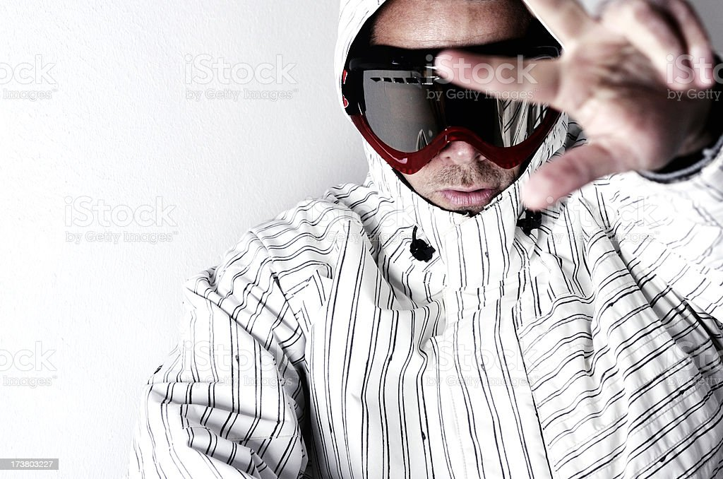 goggle man peace royalty-free stock photo