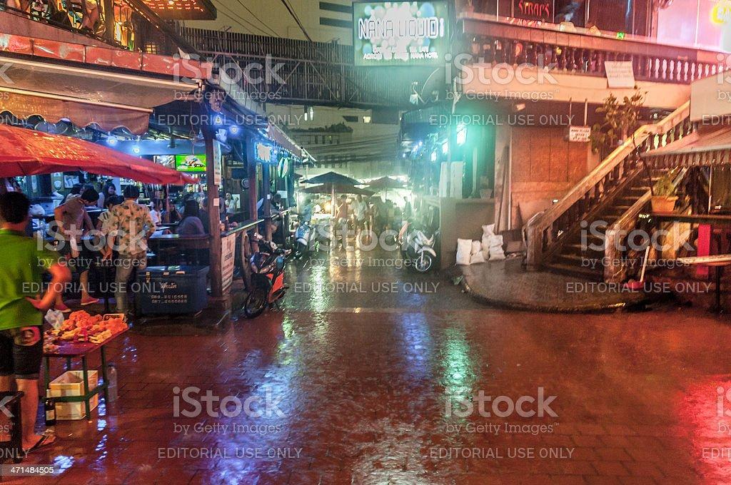 GoGo Bars In Nana Entertainment Plaza, Bangkok Thailand royalty-free stock photo
