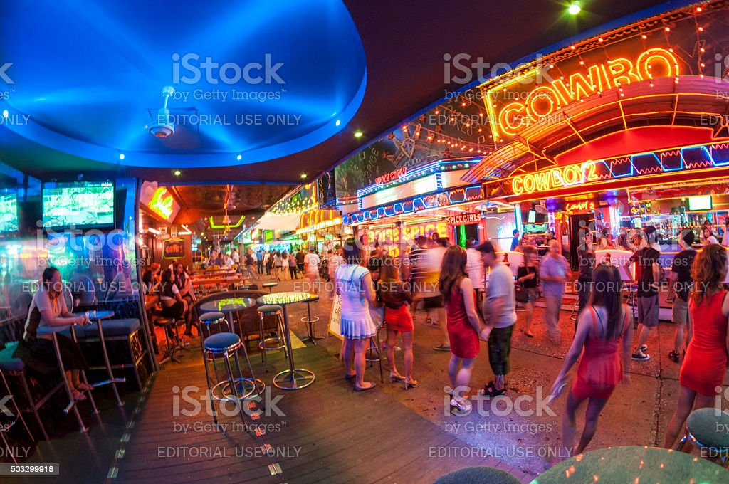 GoGo Bars In Soi Cowboy, Bangkok stock photo