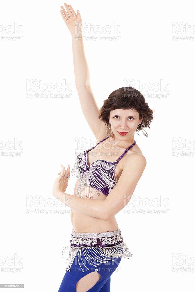 Go-go dancer in action stock photo