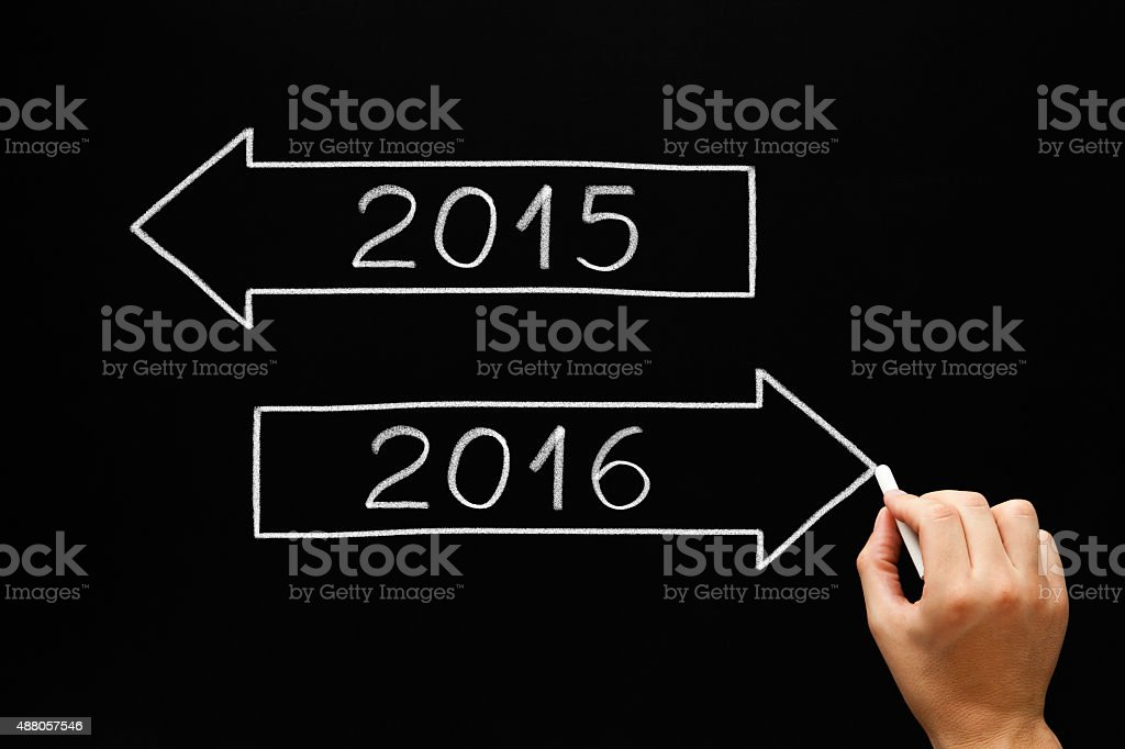 Going Ahead to Year 2016 stock photo