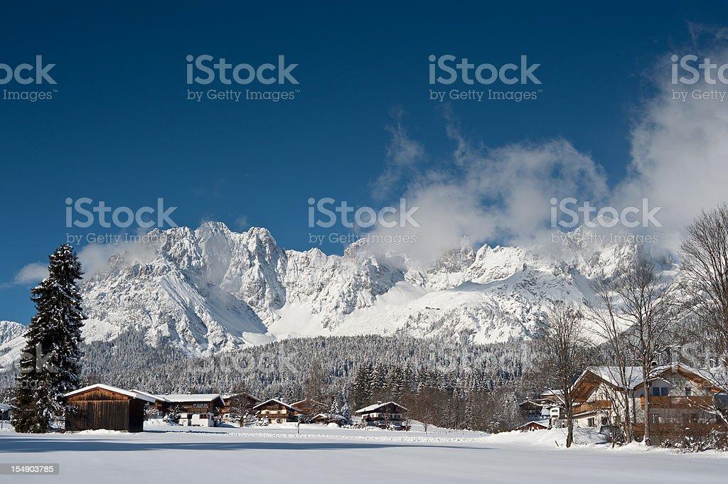 Going at the Wilder Kaiser Tirol stock photo