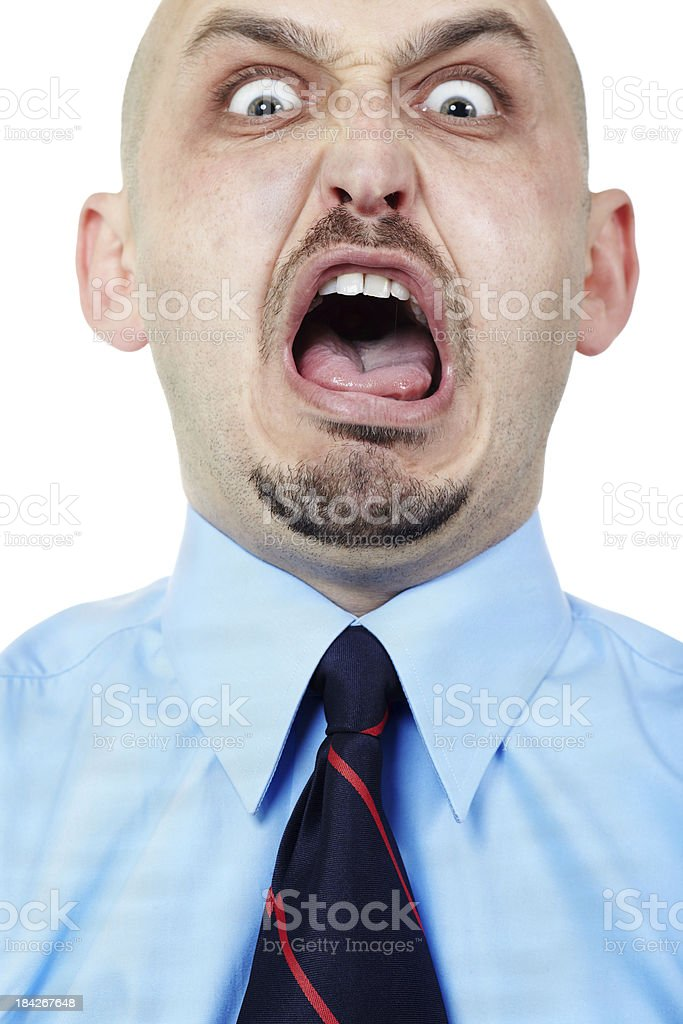 Going crazy royalty-free stock photo