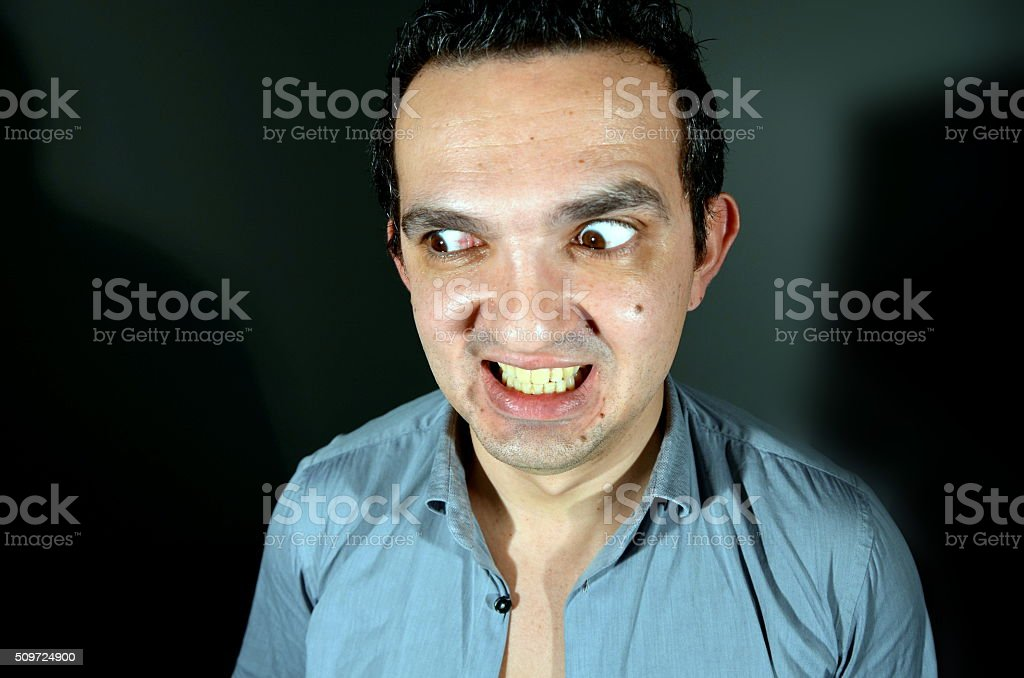 Going crazy stock photo
