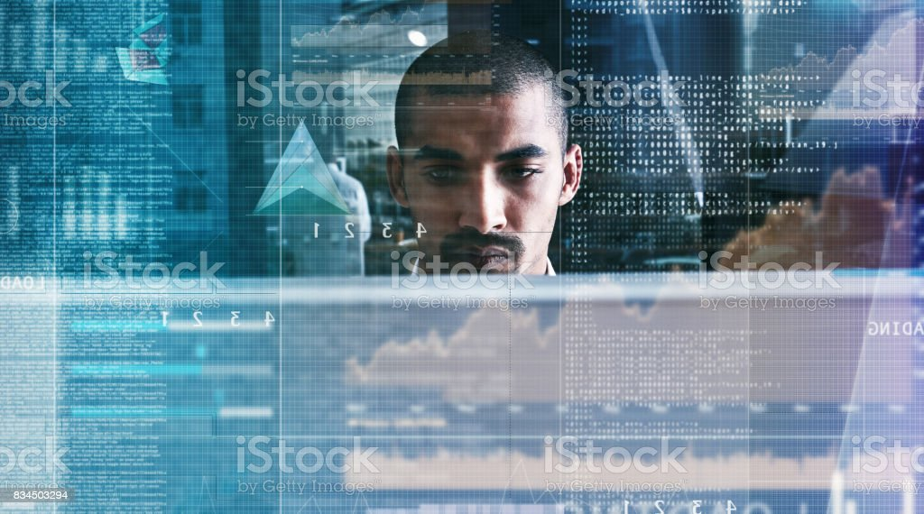 Going deep into the world wide web stock photo