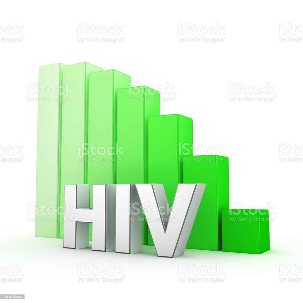 HIV going down stock photo