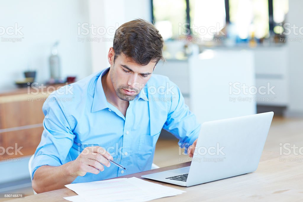 Going down the list to success stock photo