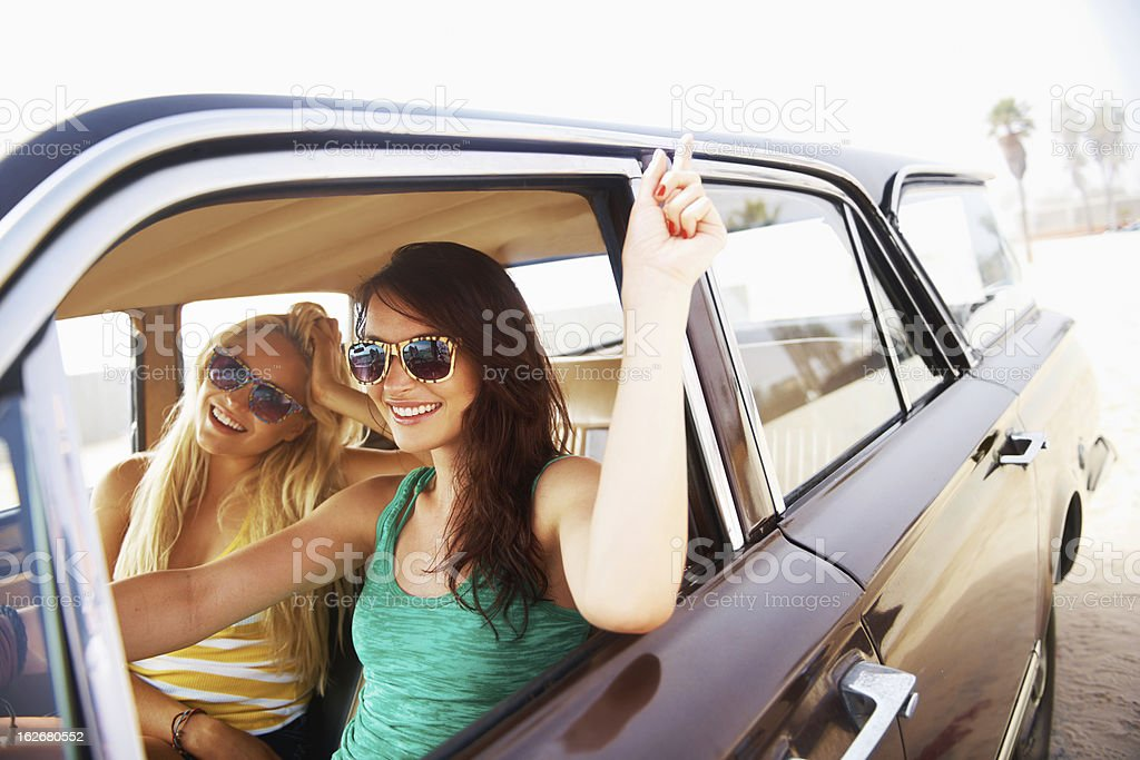Going for a drive royalty-free stock photo