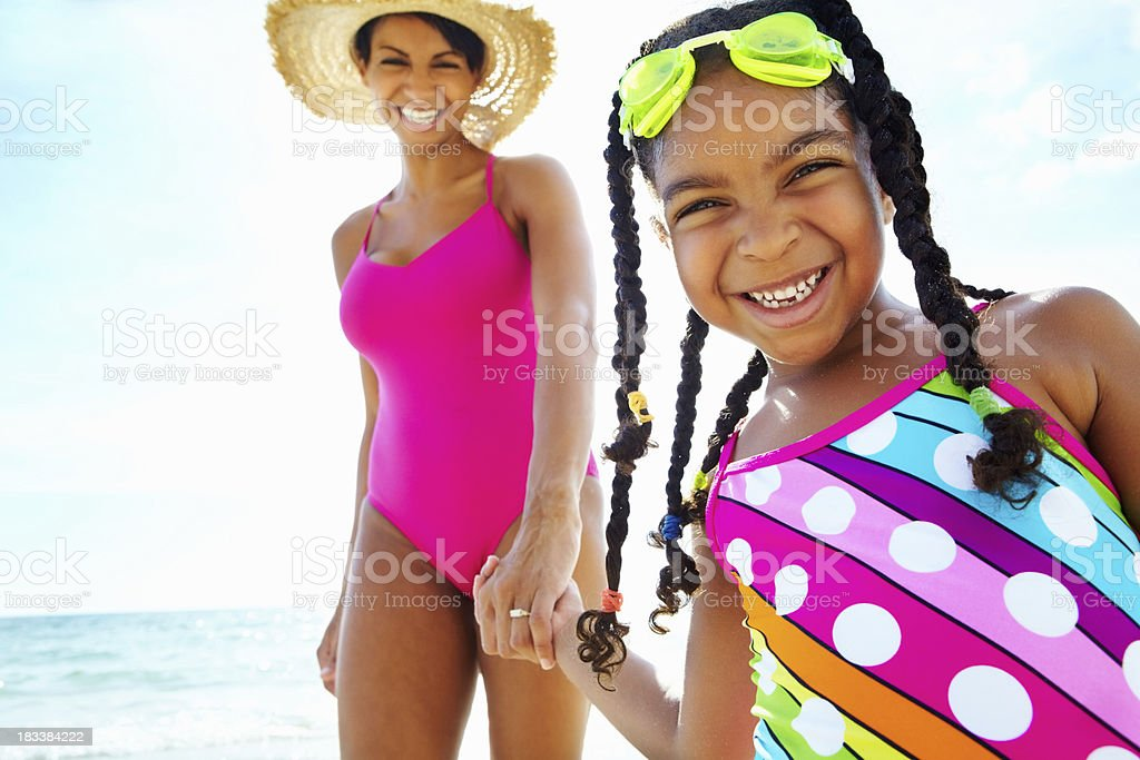 Going for a swim royalty-free stock photo