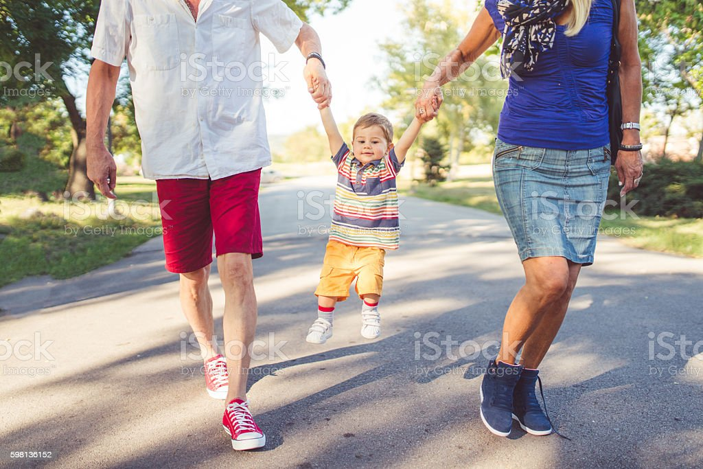 Going for a walk stock photo