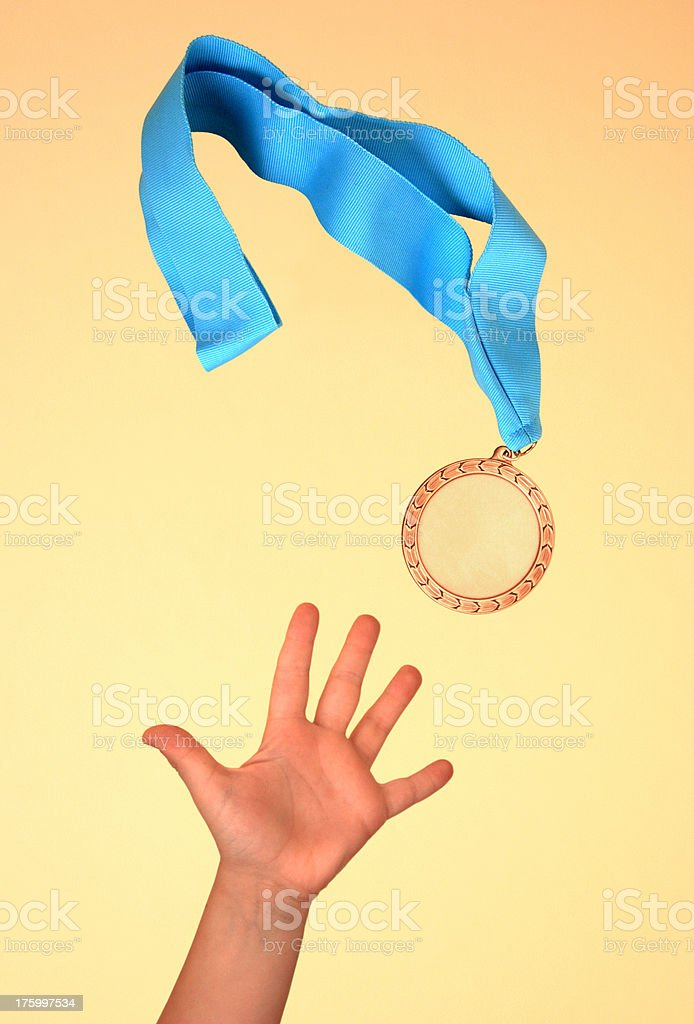 Going for Gold royalty-free stock photo