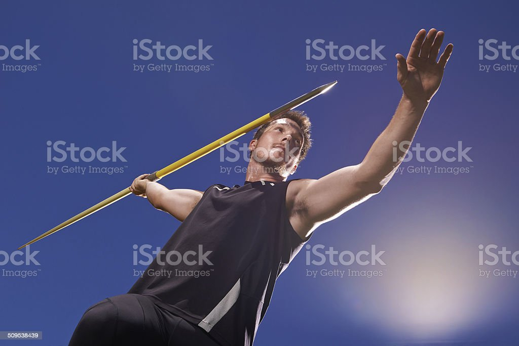 Going for his record stock photo