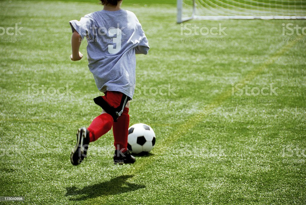 Going For The Goal! royalty-free stock photo