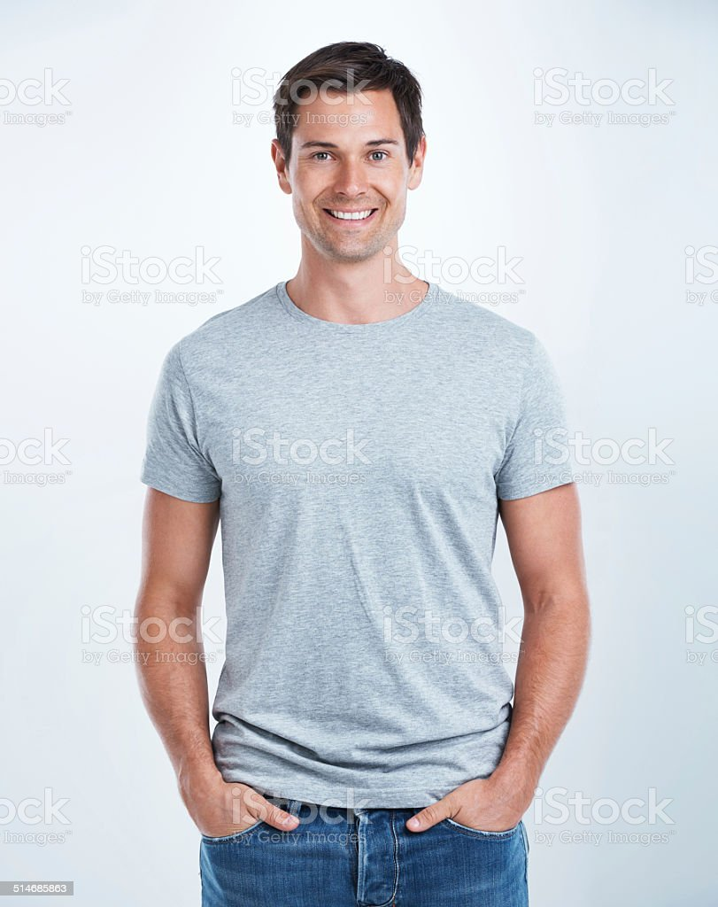 Going for the laid-back look stock photo