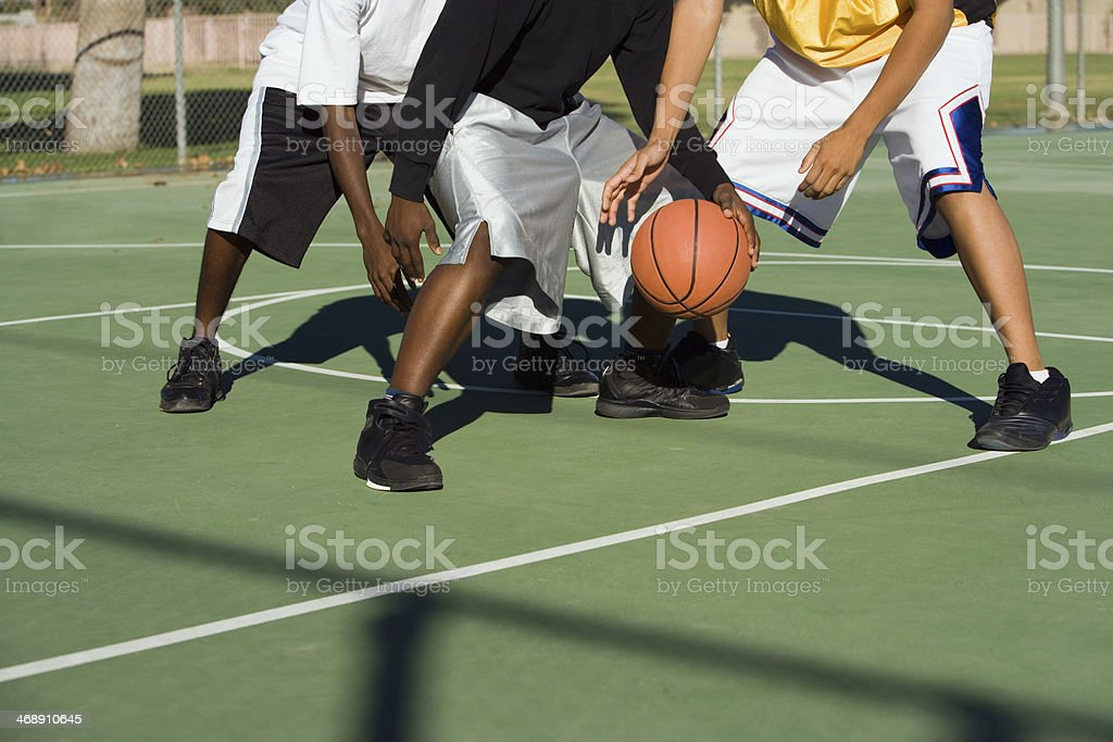 Going for the Steal stock photo