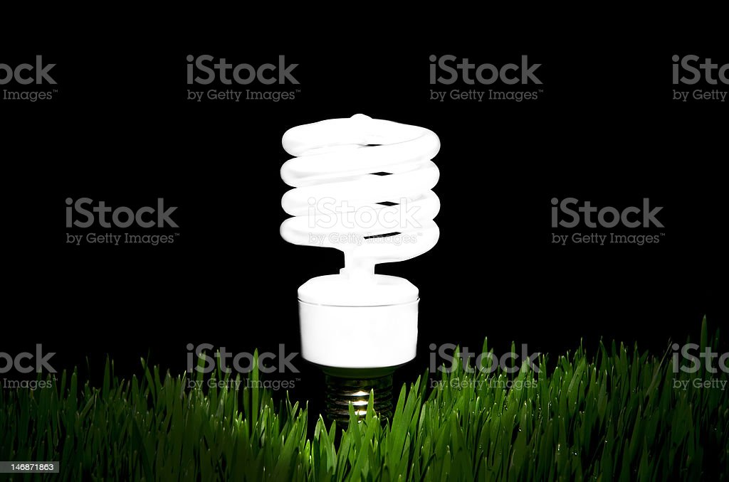 Going Green with light royalty-free stock photo