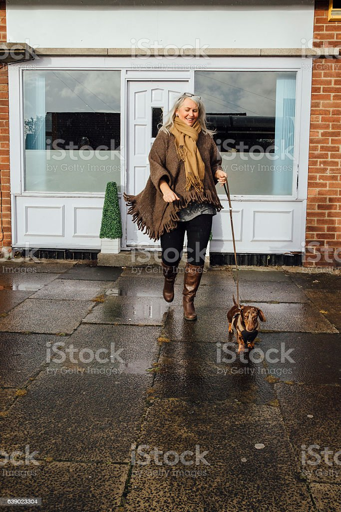 Going Home With a Clean Dog stock photo