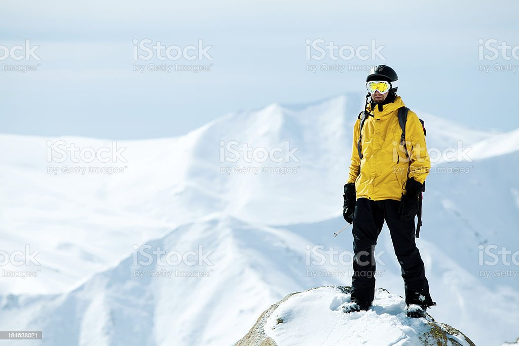 Going off piste royalty-free stock photo