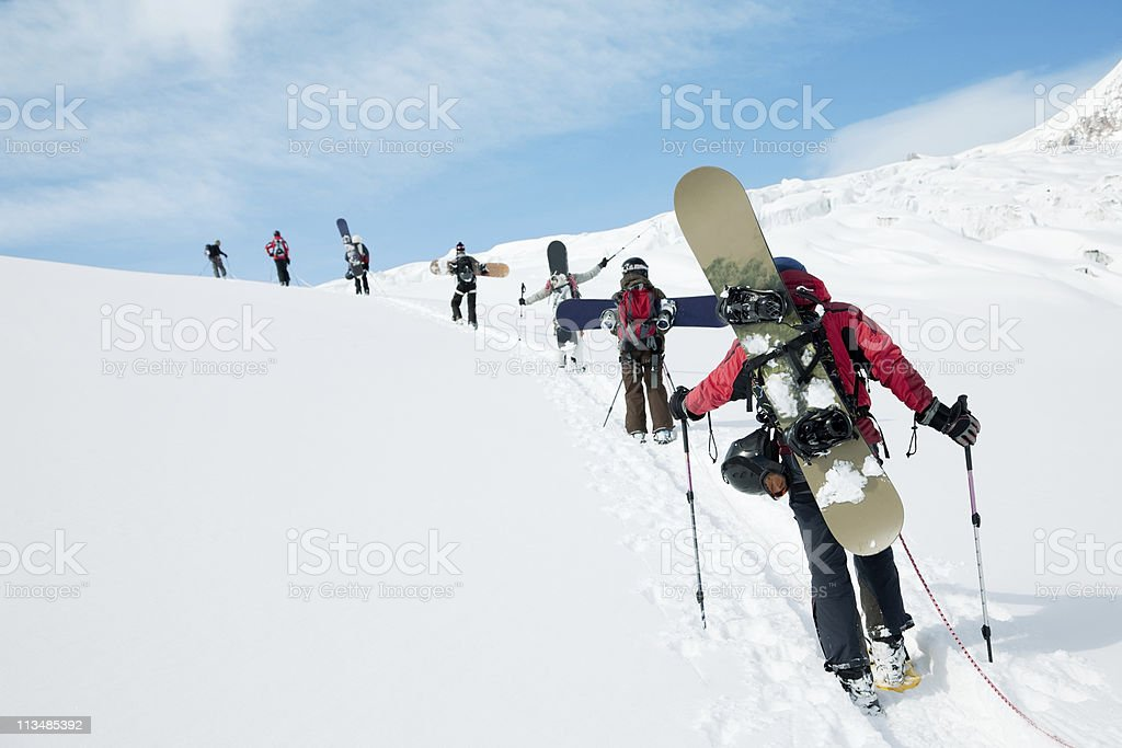 Going off-piste royalty-free stock photo