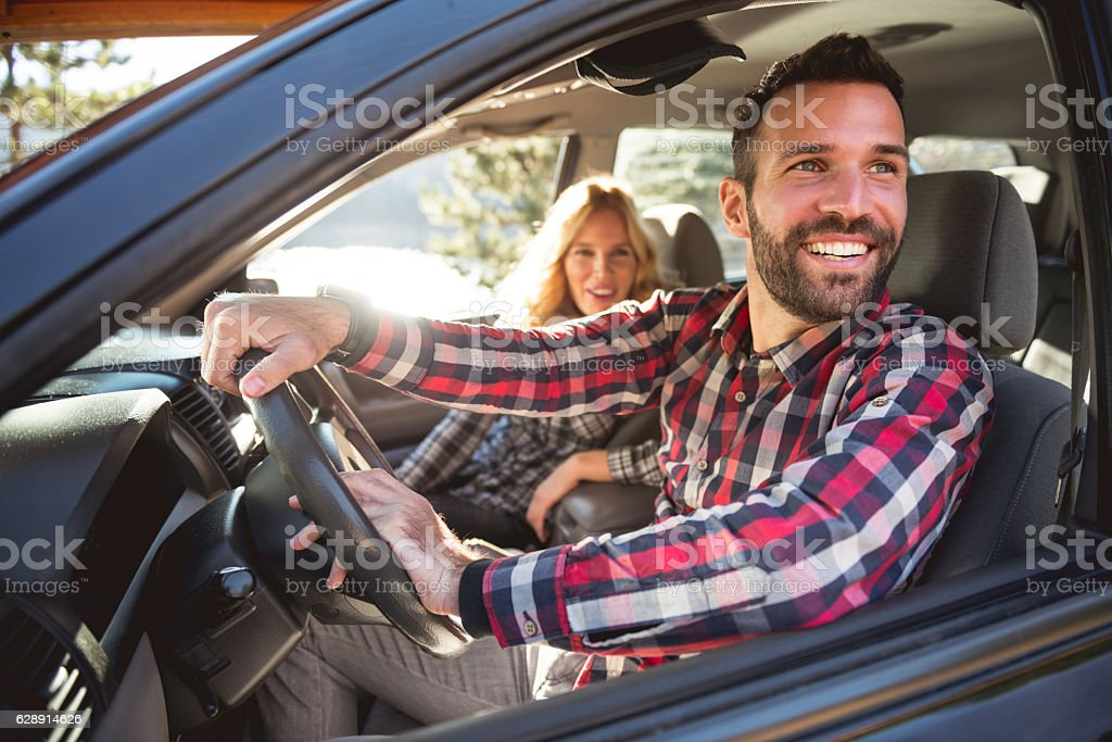 Going on a road trip stock photo