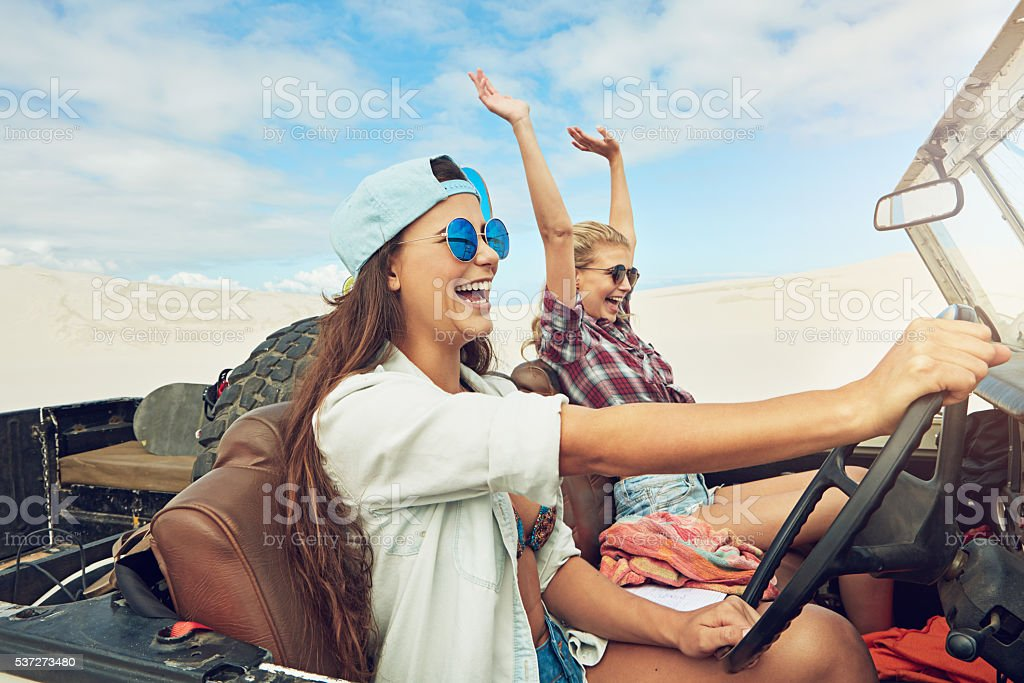 Going on an epic desert adventure stock photo