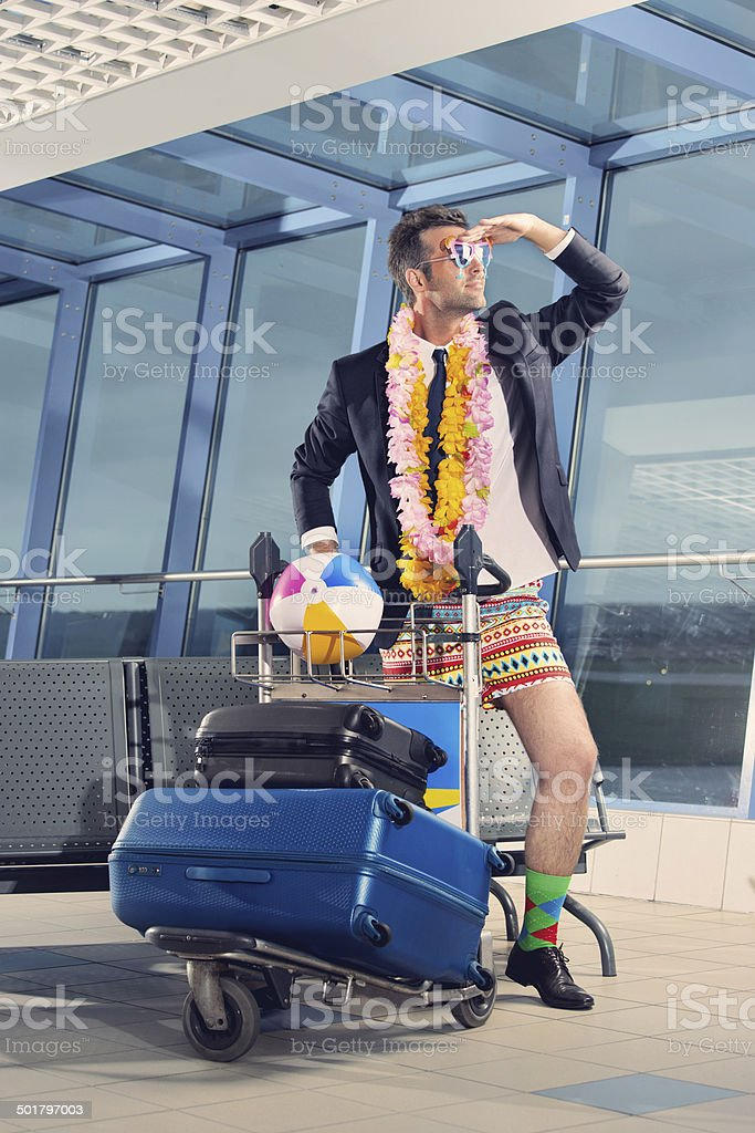 Going on holiday stock photo