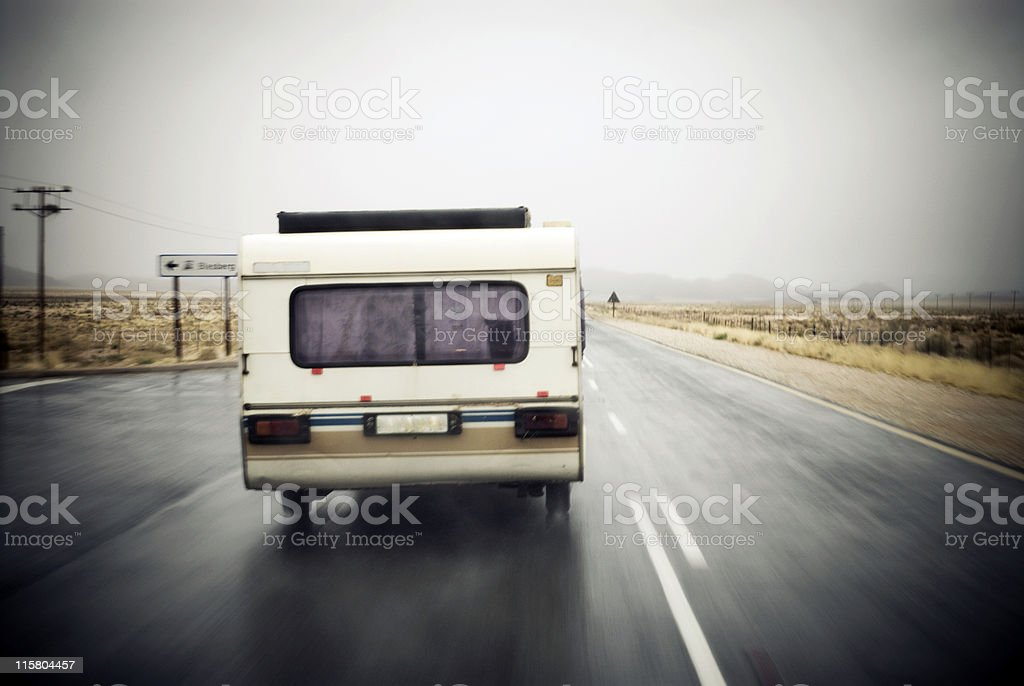 Going on holiday with the camper royalty-free stock photo