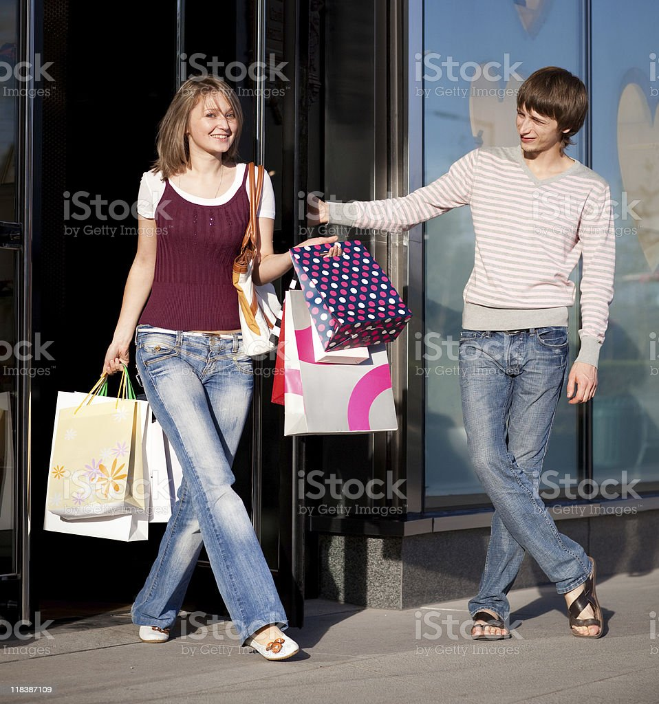 Going out of the boutique stock photo