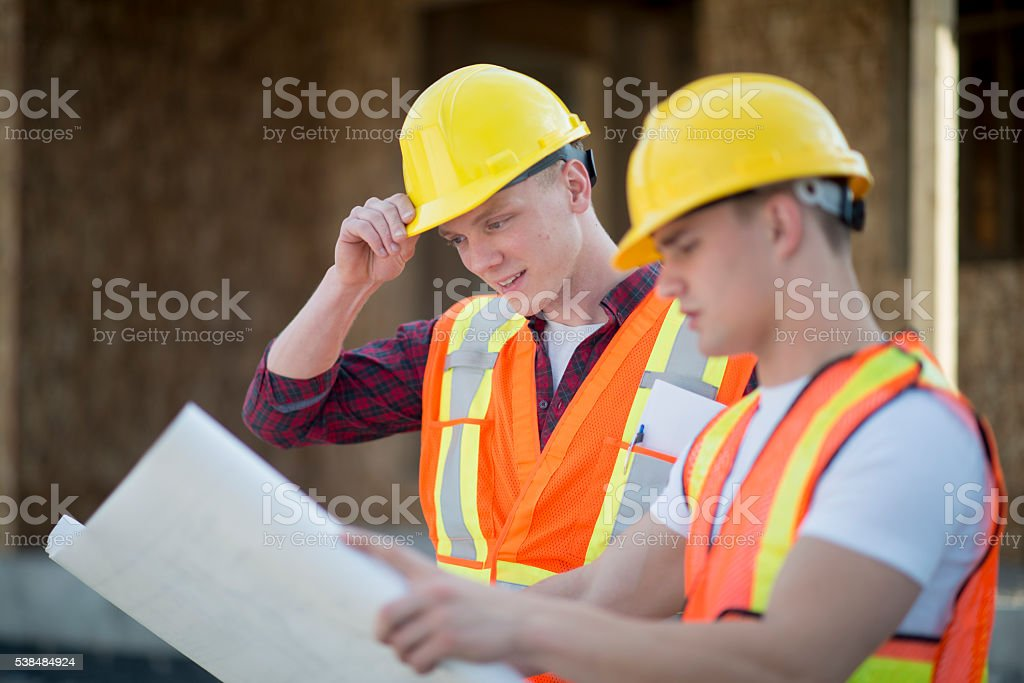 Going Over the Days Job stock photo