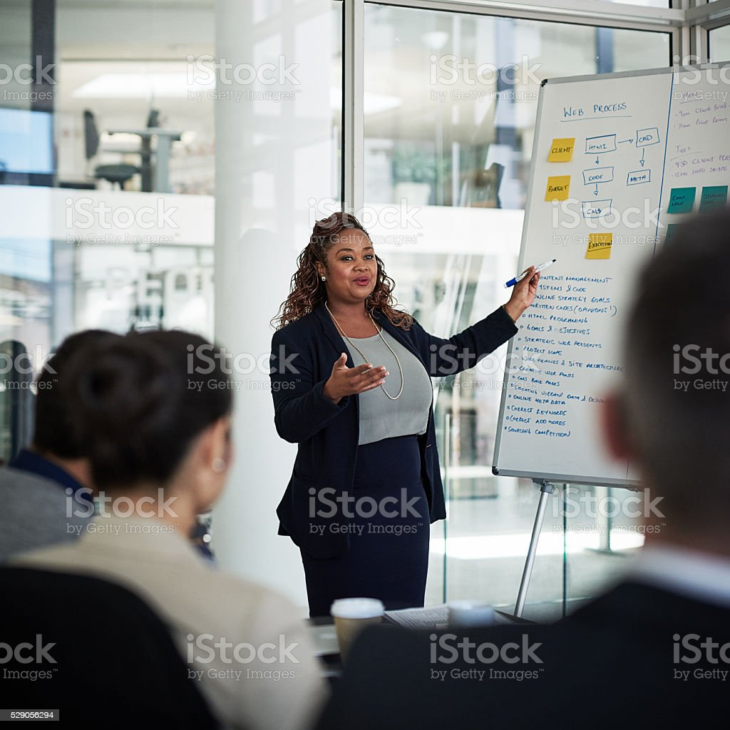 Going over the process stock photo