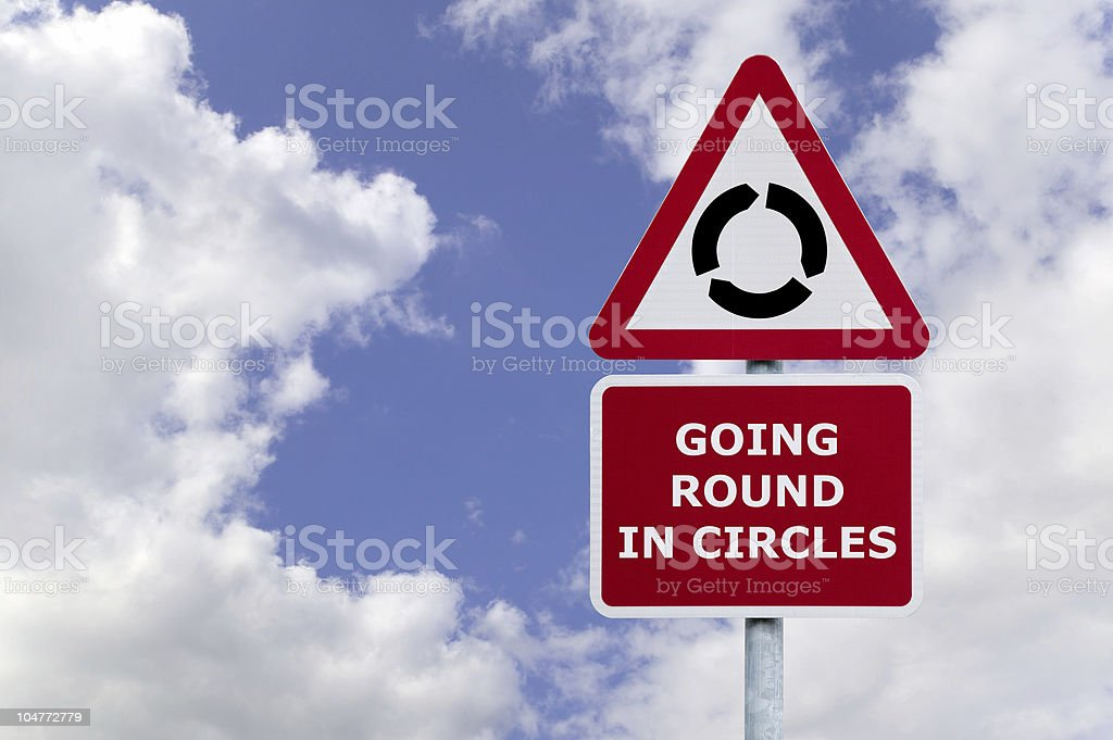 Going round in circles stock photo