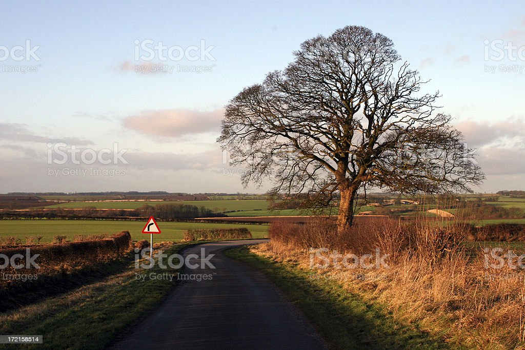 going round the bend royalty-free stock photo