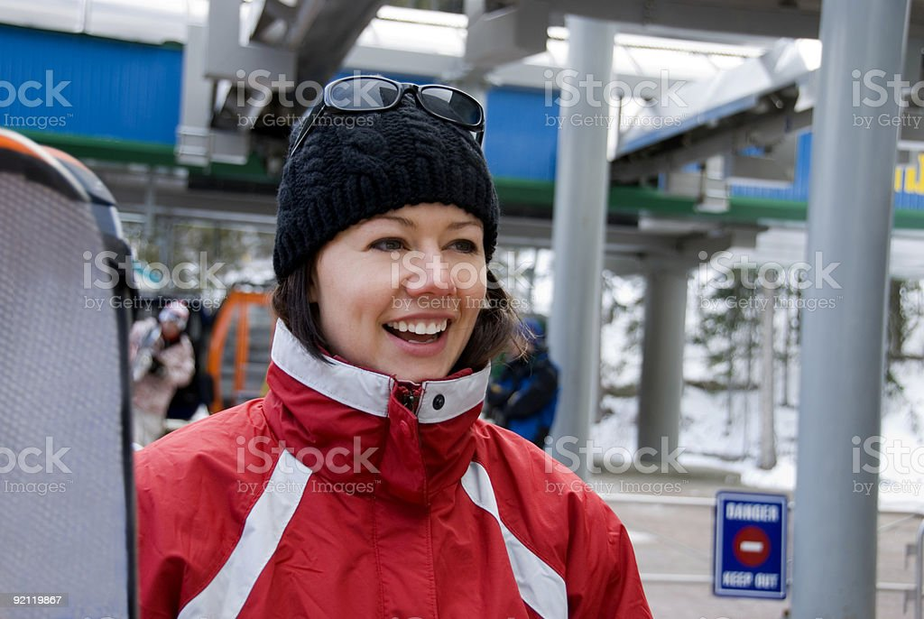 Going Skiing royalty-free stock photo