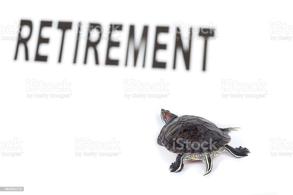 Going slowely to retirement stock photo