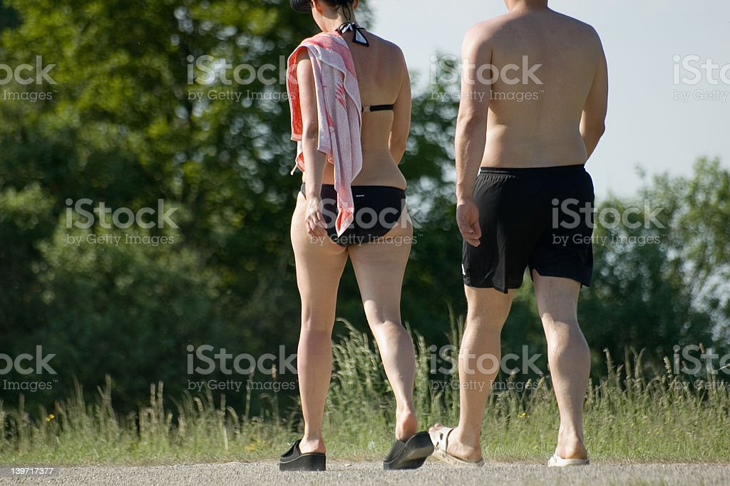 going swimming royalty-free stock photo