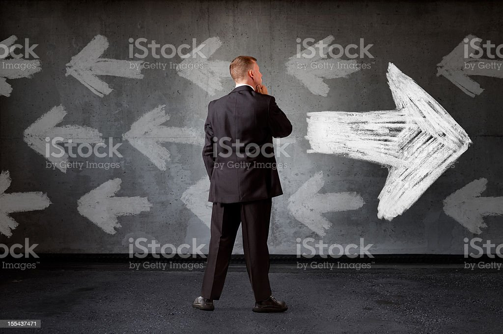 Going The Right Way? stock photo
