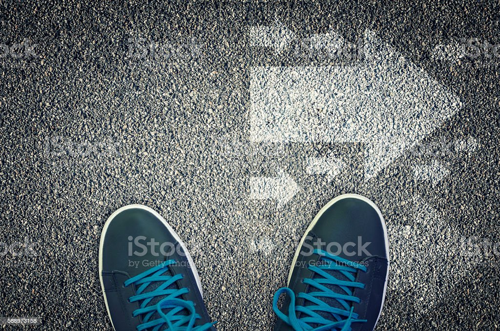 Going The Right Way stock photo