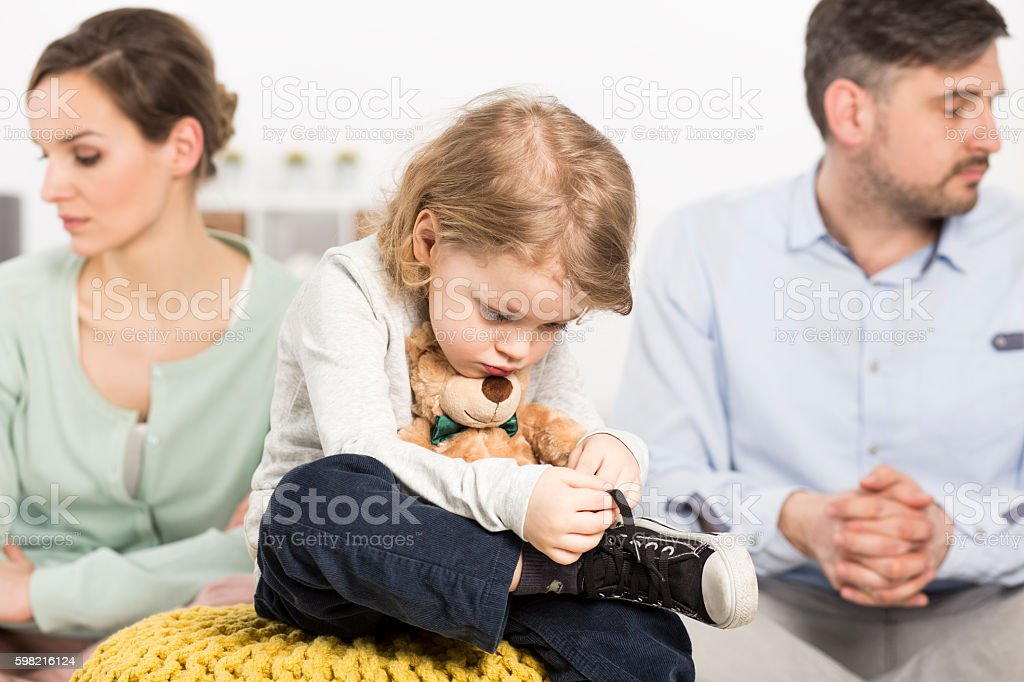 Going through difficult days together stock photo