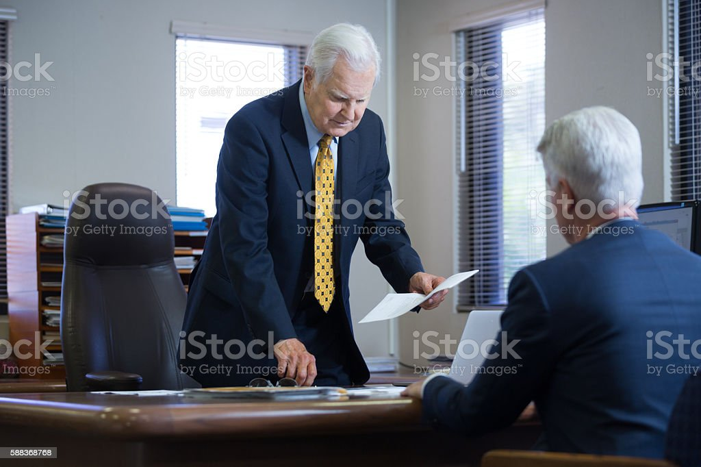 Going thru some difficults in business stock photo