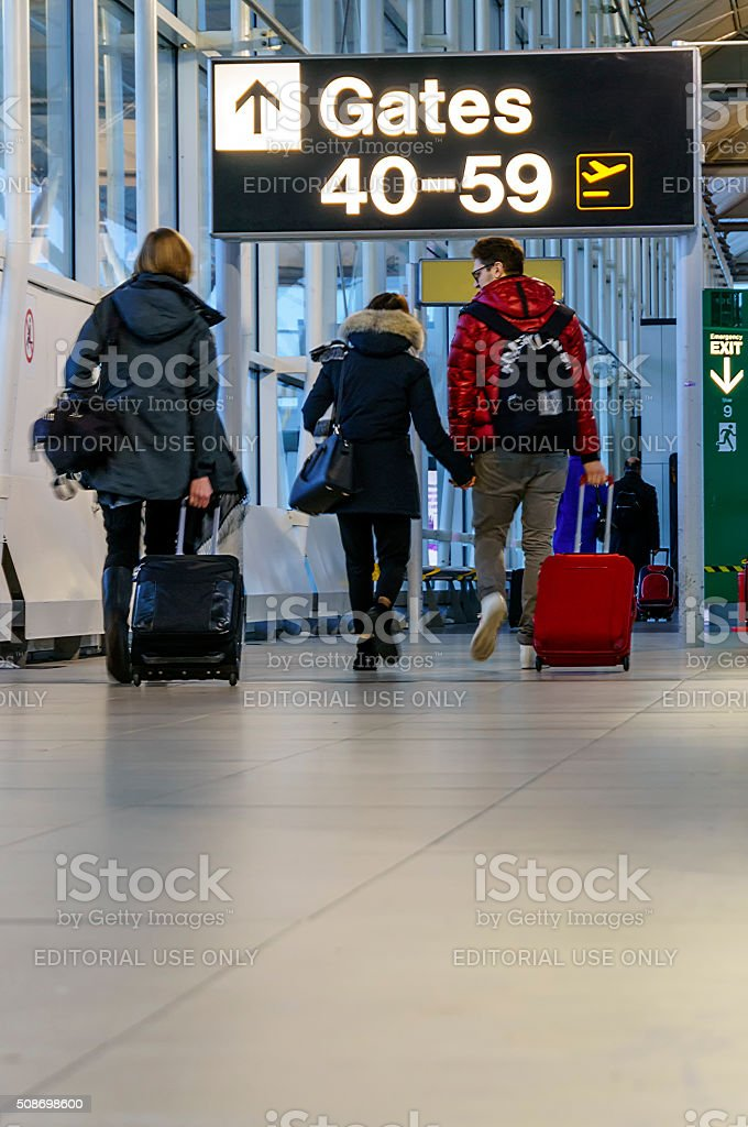 Going To Airport Gate, stock photo