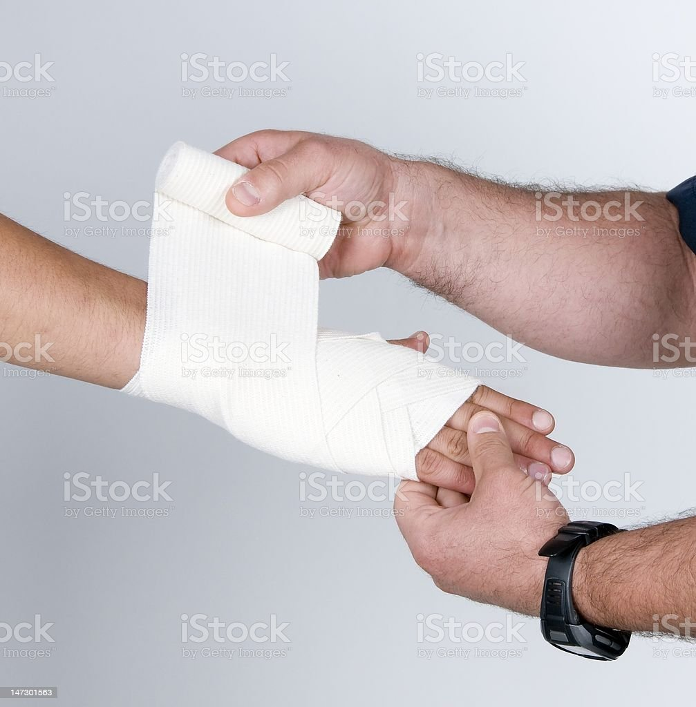 Wirst Bandage royalty-free stock photo
