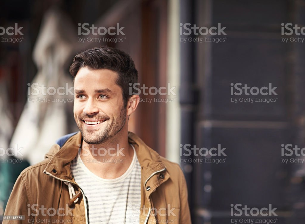 Going to explore every inch of this city! stock photo