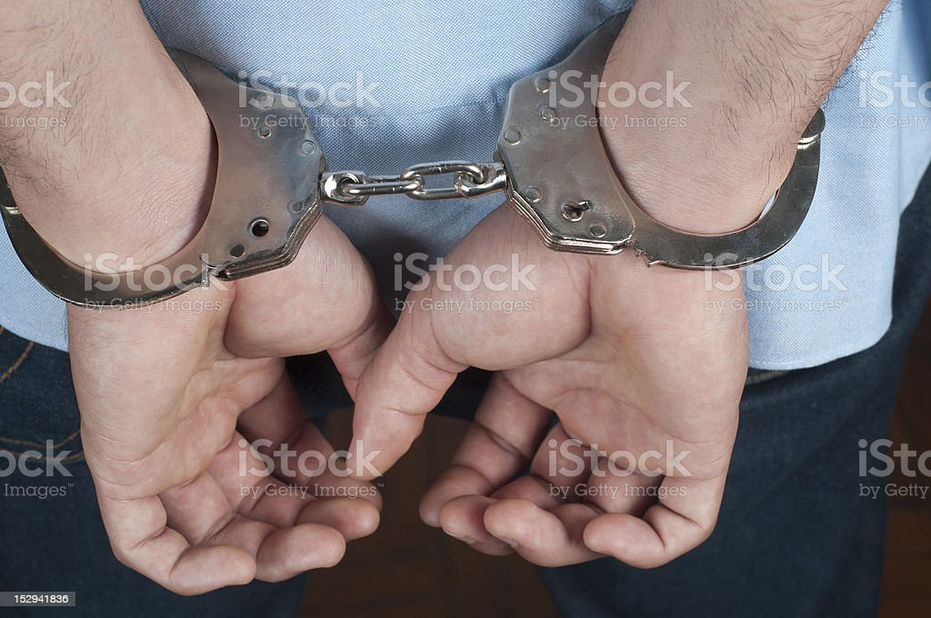 Going to Jail stock photo