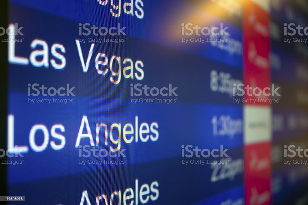 Going to Las Vegas or Los Angeles royalty-free stock photo