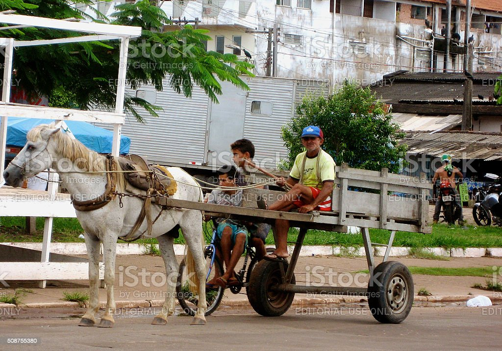 Going to Market in Santarem stock photo