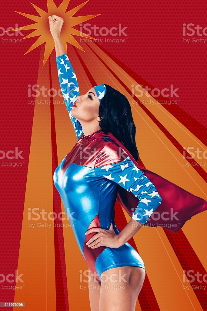 Going to save the world. stock photo