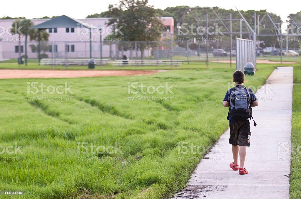 Going to school stock photo