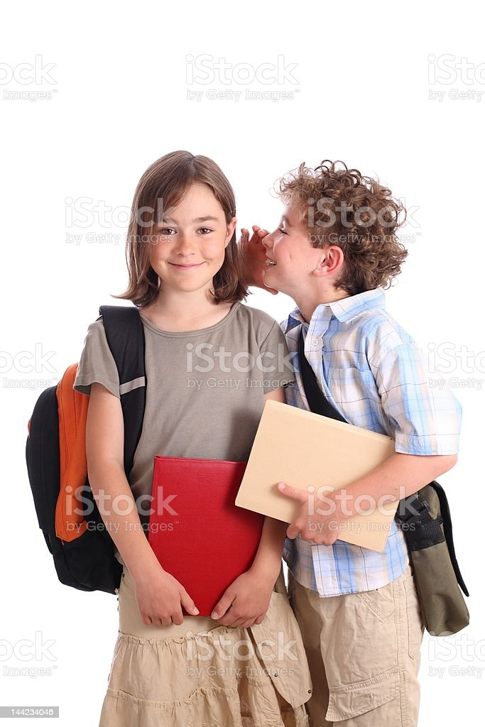 going to school royalty-free stock photo