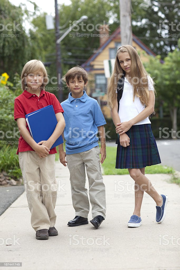 Going to school. royalty-free stock photo